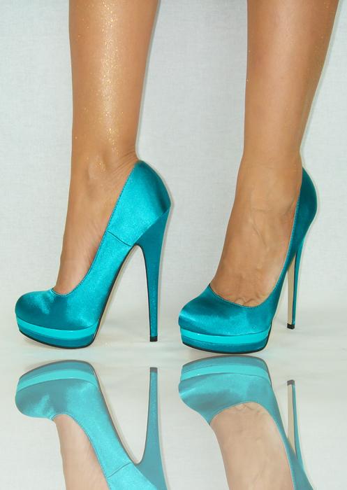 damenschuhe gr n t rkis peep toe high heels pumps plateau. Black Bedroom Furniture Sets. Home Design Ideas