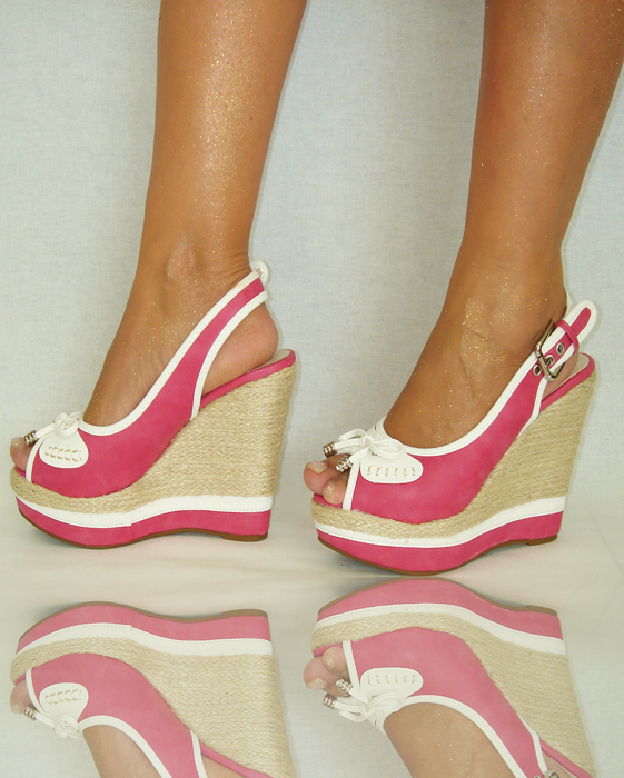 schuhe 35 41 keilabsatz pink high heels pumps. Black Bedroom Furniture Sets. Home Design Ideas