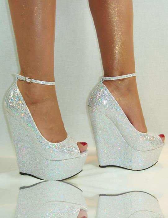 schuhe 39 keilabsatz silber high heels pumps damen sommer. Black Bedroom Furniture Sets. Home Design Ideas