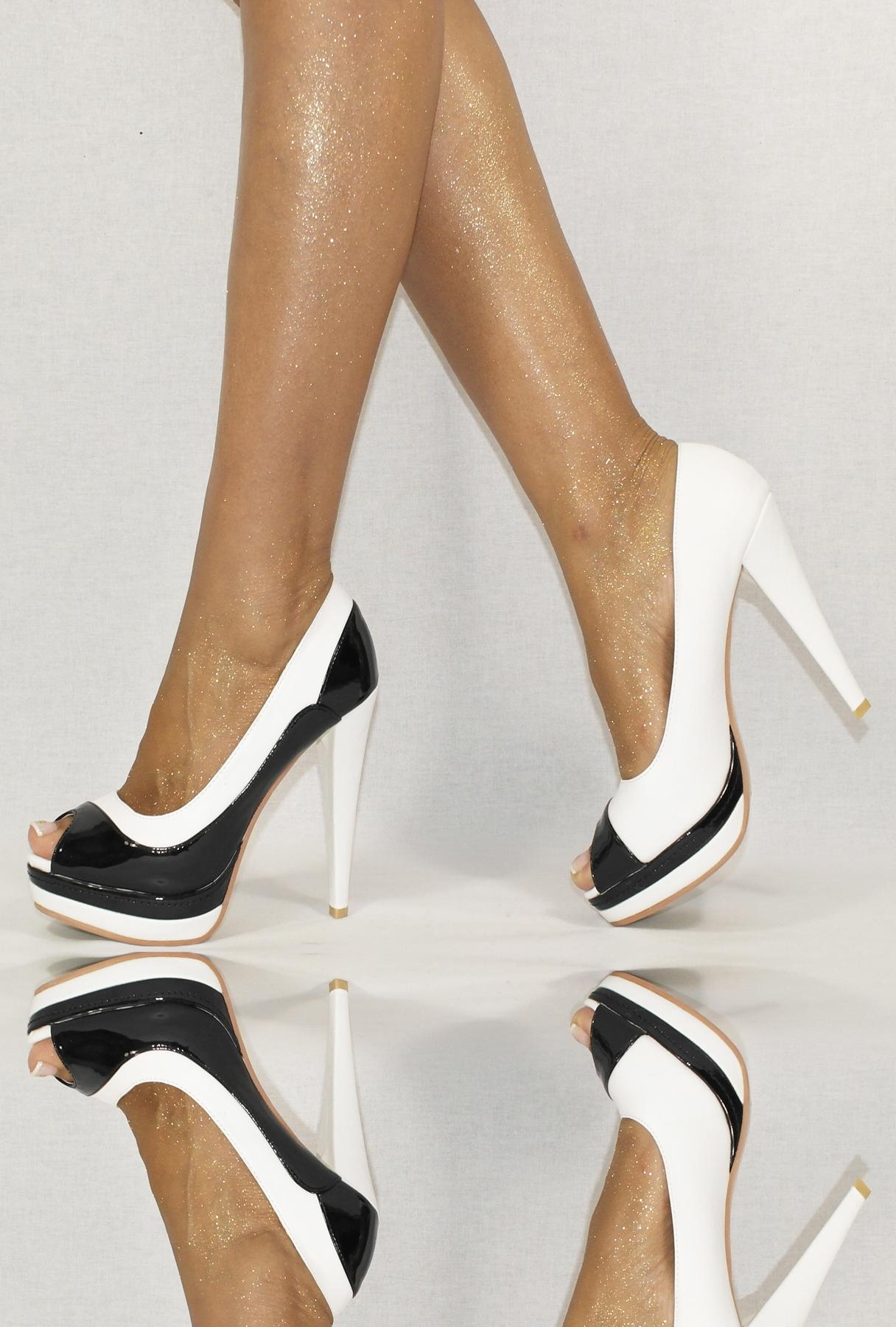 womens shoes pumps black red brown white 36 41 platform high heels shoes evening ebay. Black Bedroom Furniture Sets. Home Design Ideas
